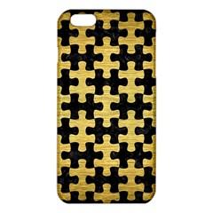 PUZ1 BK MARBLE GOLD iPhone 6 Plus/6S Plus TPU Case