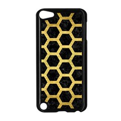Hexagon2 Black Marble & Gold Brushed Metal Apple Ipod Touch 5 Case (black)