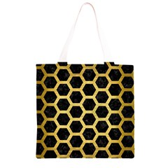 HXG2 BK MARBLE GOLD Grocery Light Tote Bag