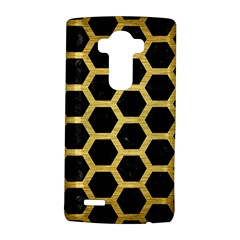 Hexagon2 Black Marble & Gold Brushed Metal Lg G4 Hardshell Case