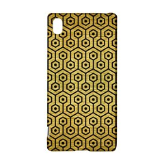 Hexagon1 Black Marble & Gold Brushed Metal (r) Sony Xperia Z3+ Hardshell Case