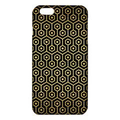 Hexagon1 Black Marble & Gold Brushed Metal Iphone 6 Plus/6s Plus Tpu Case