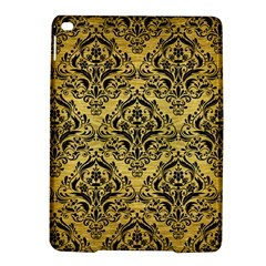 Damask1 Black Marble & Gold Brushed Metal (r) Apple Ipad Air 2 Hardshell Case