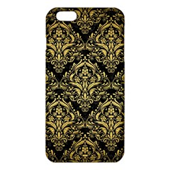 Damask1 Black Marble & Gold Brushed Metal Iphone 6 Plus/6s Plus Tpu Case