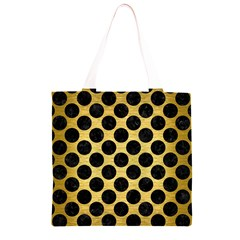 CIR2 BK MARBLE GOLD (R) Grocery Light Tote Bag