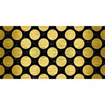 CIRCLES2 BLACK MARBLE & GOLD BRUSHED METAL #1 DAD 3D Greeting Card (8x4) Front