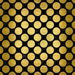 CIRCLES2 BLACK MARBLE & GOLD BRUSHED METAL #1 DAD 3D Greeting Card (8x4) Inside