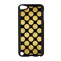 Circles2 Black Marble & Gold Brushed Metal Apple Ipod Touch 5 Case (black)
