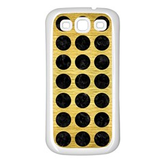 Circles1 Black Marble & Gold Brushed Metal (r) Samsung Galaxy S3 Back Case (white)