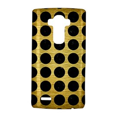 Circles1 Black Marble & Gold Brushed Metal (r) Lg G4 Hardshell Case