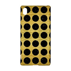 Circles1 Black Marble & Gold Brushed Metal (r) Sony Xperia Z3+ Hardshell Case
