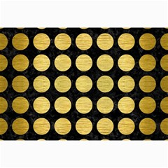 Circles1 Black Marble & Gold Brushed Metal Collage 12  X 18