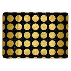 Circles1 Black Marble & Gold Brushed Metal Samsung Galaxy Tab 8 9  P7300 Flip Case