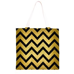 CHV9 BK MARBLE GOLD (R) Grocery Light Tote Bag
