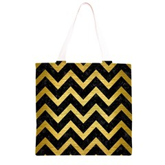 CHV9 BK MARBLE GOLD Grocery Light Tote Bag