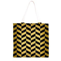CHV1 BK MARBLE GOLD Grocery Light Tote Bag