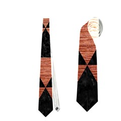 Triangle3 Black Marble & Copper Brushed Metal Necktie (one Side)