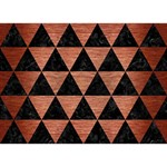 TRIANGLE3 BLACK MARBLE & COPPER BRUSHED METAL GIRL 3D Greeting Card (7x5) Back
