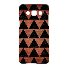 Triangle2 Black Marble & Copper Brushed Metal Samsung Galaxy A5 Hardshell Case