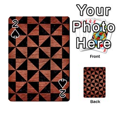 Triangle1 Black Marble & Copper Brushed Metal Playing Cards 54 Designs