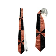 Triangle1 Black Marble & Copper Brushed Metal Necktie (two Side)