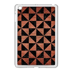 Triangle1 Black Marble & Copper Brushed Metal Apple Ipad Mini Case (white)