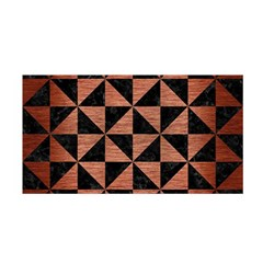 Triangle1 Black Marble & Copper Brushed Metal Satin Wrap