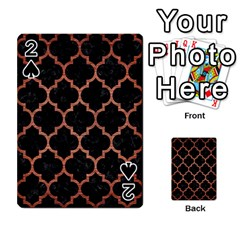 Tile1 Black Marble & Copper Brushed Metal Playing Cards 54 Designs