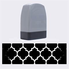 Tile1 Black Marble & Copper Brushed Metal Name Stamp