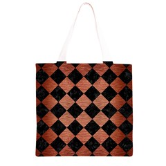 SQR2 BK MARBLE COPPER Grocery Light Tote Bag
