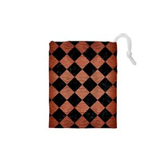 Square2 Black Marble & Copper Brushed Metal Drawstring Pouch (xs)