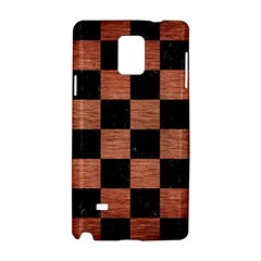 Square1 Black Marble & Copper Brushed Metal Samsung Galaxy Note 4 Hardshell Case