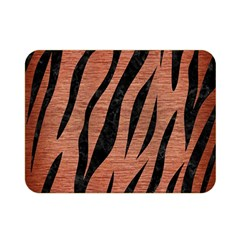 Skin3 Black Marble & Copper Brushed Metal (r) Double Sided Flano Blanket (mini)