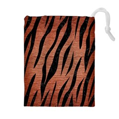 SKN3 BK MARBLE COPPER (R) Drawstring Pouches (Extra Large)
