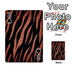 Skin3 Black Marble & Copper Brushed Metal Playing Cards 54 Designs