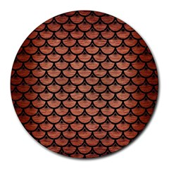 SCA3 BK MARBLE COPPER (R) Round Mousepads