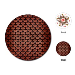 SCA3 BK MARBLE COPPER (R) Playing Cards (Round)