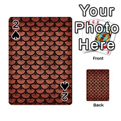 Scales3 Black Marble & Copper Brushed Metal (r) Playing Cards 54 Designs