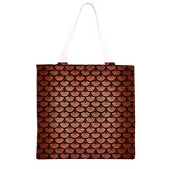 SCA3 BK MARBLE COPPER (R) Grocery Light Tote Bag