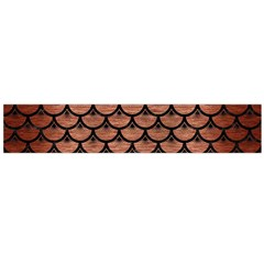 Scales3 Black Marble & Copper Brushed Metal (r) Flano Scarf (large)