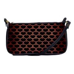 Scales3 Black Marble & Copper Brushed Metal Shoulder Clutch Bag
