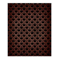Scales2 Black Marble & Copper Brushed Metal Shower Curtain 60  X 72  (medium)