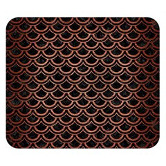 Scales2 Black Marble & Copper Brushed Metal Double Sided Flano Blanket (small)