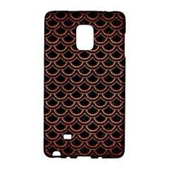 Scales2 Black Marble & Copper Brushed Metal Samsung Galaxy Note Edge Hardshell Case