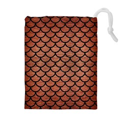 SCA1 BK MARBLE COPPER (R) Drawstring Pouches (Extra Large)