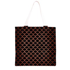 SCA1 BK MARBLE COPPER Grocery Light Tote Bag