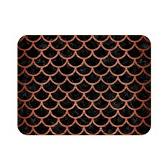 Scales1 Black Marble & Copper Brushed Metal Double Sided Flano Blanket (mini)