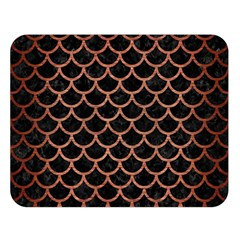 Scales1 Black Marble & Copper Brushed Metal Double Sided Flano Blanket (large)