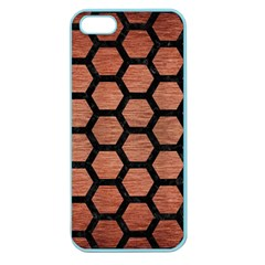 Hexagon2 Black Marble & Copper Brushed Metal (r) Apple Seamless Iphone 5 Case (color)