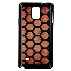 Hexagon2 Black Marble & Copper Brushed Metal (r) Samsung Galaxy Note 4 Case (black)
